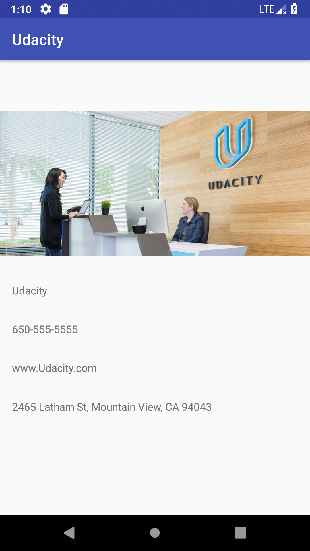 Udacity Business App